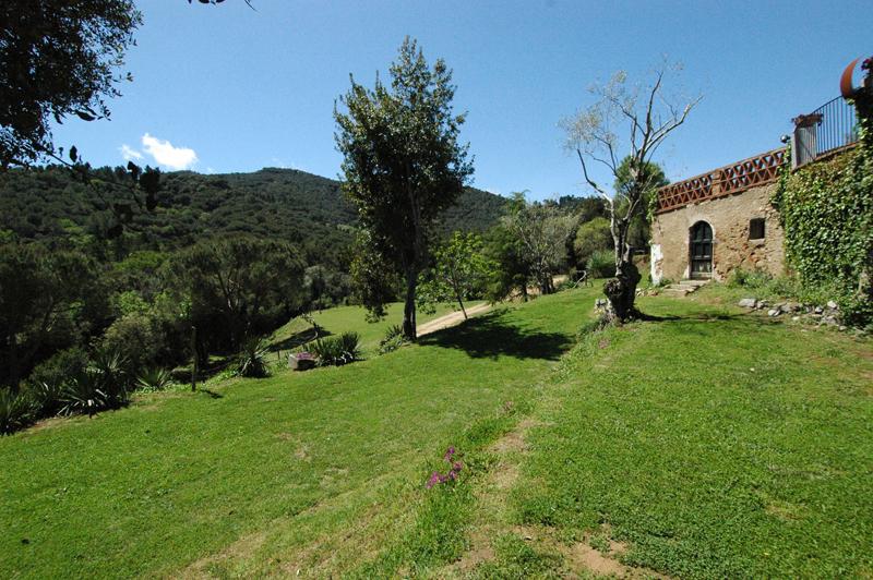 vistes des de l'alzinar de la masia per a casaments de Sant Pere de Clarà